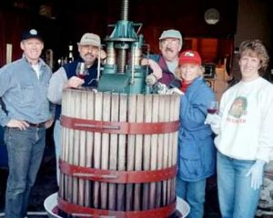 The CRUSH gang at Vashon Winery located on Vashon Island in Washington's Puget Sound area